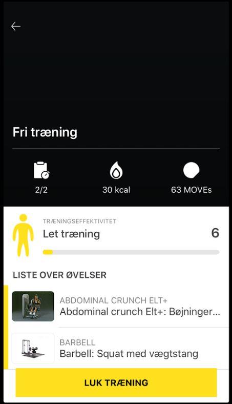 Se dine træning